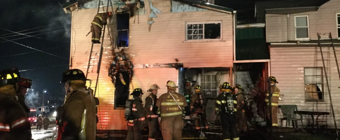 Five Fire Companies Battle W. High Street Blaze