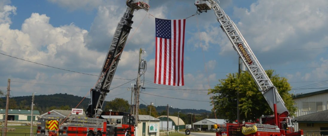 Fire Companies Welcome Traveling Vietnam Memorial to Greene County